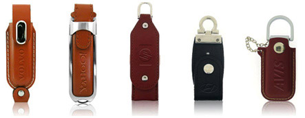 Emboss your logo into leather USB Flash Drives