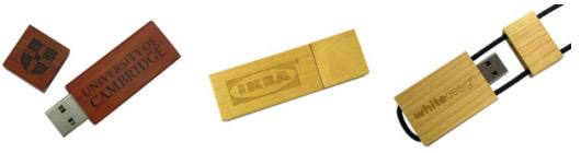 Get your logo engraved on wood USB drives