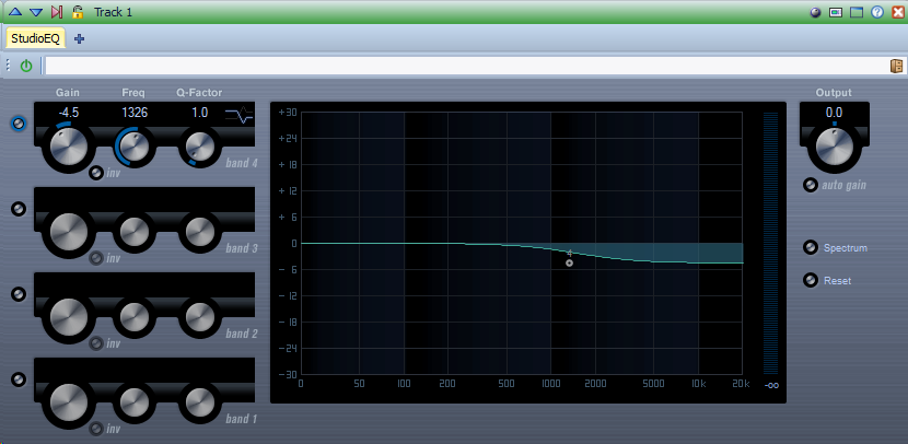 cassette recording EQ compensation filter