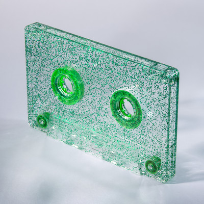 green glitter cassette c-zero