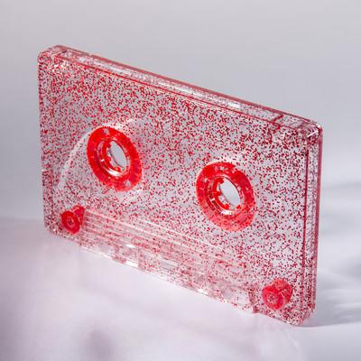 red glitter cassette c-zero