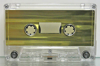 Metallic Gold Foil Audio Cassette