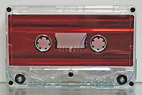 red metallic liner audio cassette