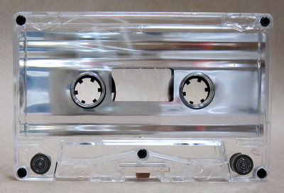 Silver Metallic Foil Audio Cassette