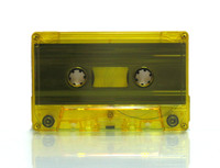 yellow tinted cassette