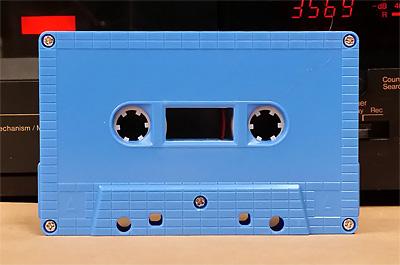 azue sky blue cassette
