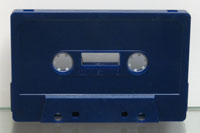 blue tab-out audio cassette