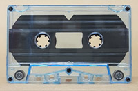 blue tint audio cassette