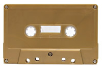 Metallic gold cassettes