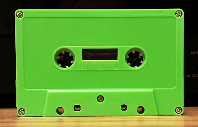 Lime Green Audio Cassettes