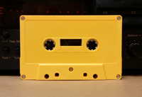 Mustard yellow cassette