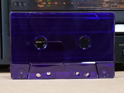 new purple tinted cassette