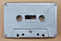 silver glitter cassette