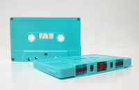 turquoise cassette