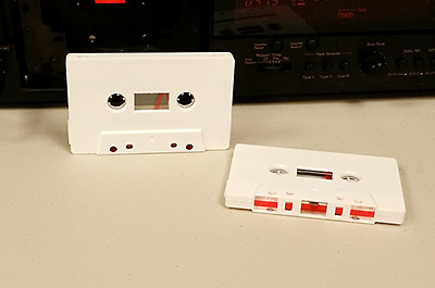 matte white cassette
