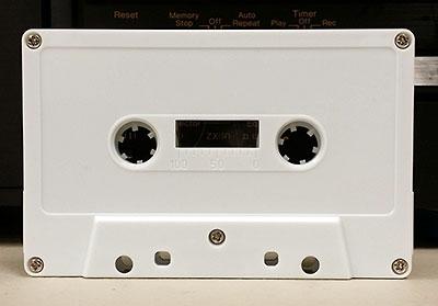 white cassette