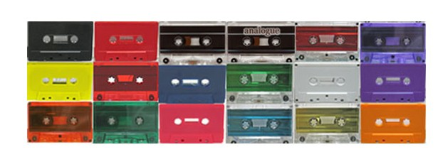 Choose from a huge selection of audio cassette colours!