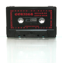 cassette with crimson red print