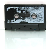 cassette with white print