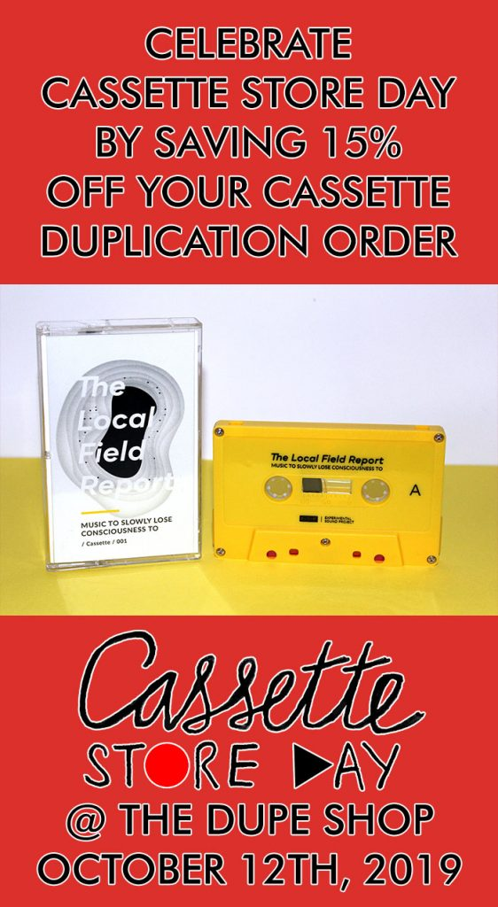 Cassette duplication sale from Duplication.ca for Cassette Store Day 2019