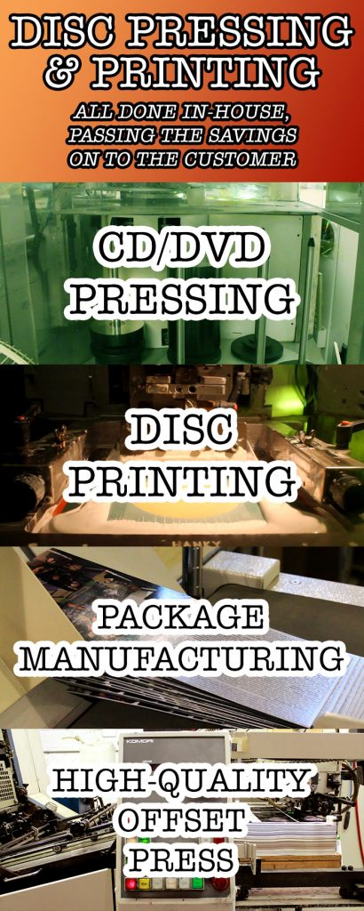 Factory direct CD pressing and printing