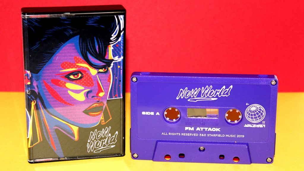 "FM Attack - ""New World"" cassette duplicated at Duplication.ca"
