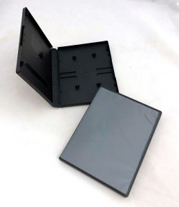 Audio Cassette Double Album Case, Black, Polypropylene from Duplication.ca
