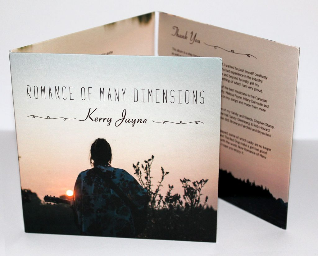 Kerry Jayne 6-panel cardboard sleeve from Duplication.ca