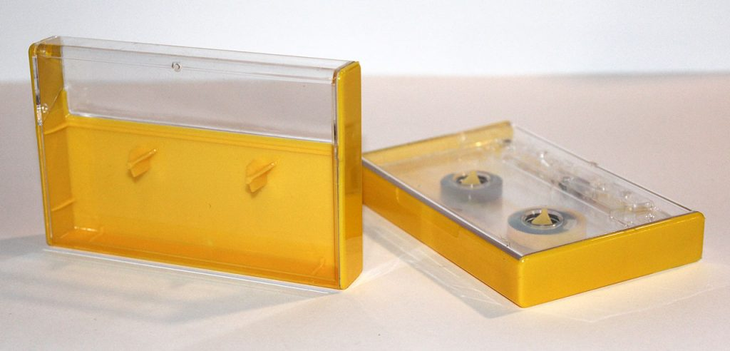 Lemon Yellow Norelco cassette case from Duplication.ca