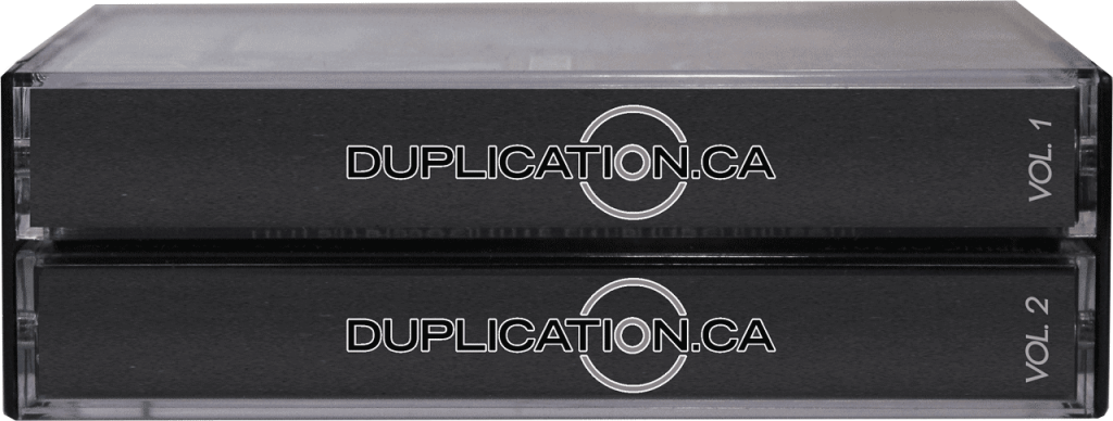 Double cassette cases at Duplication.ca