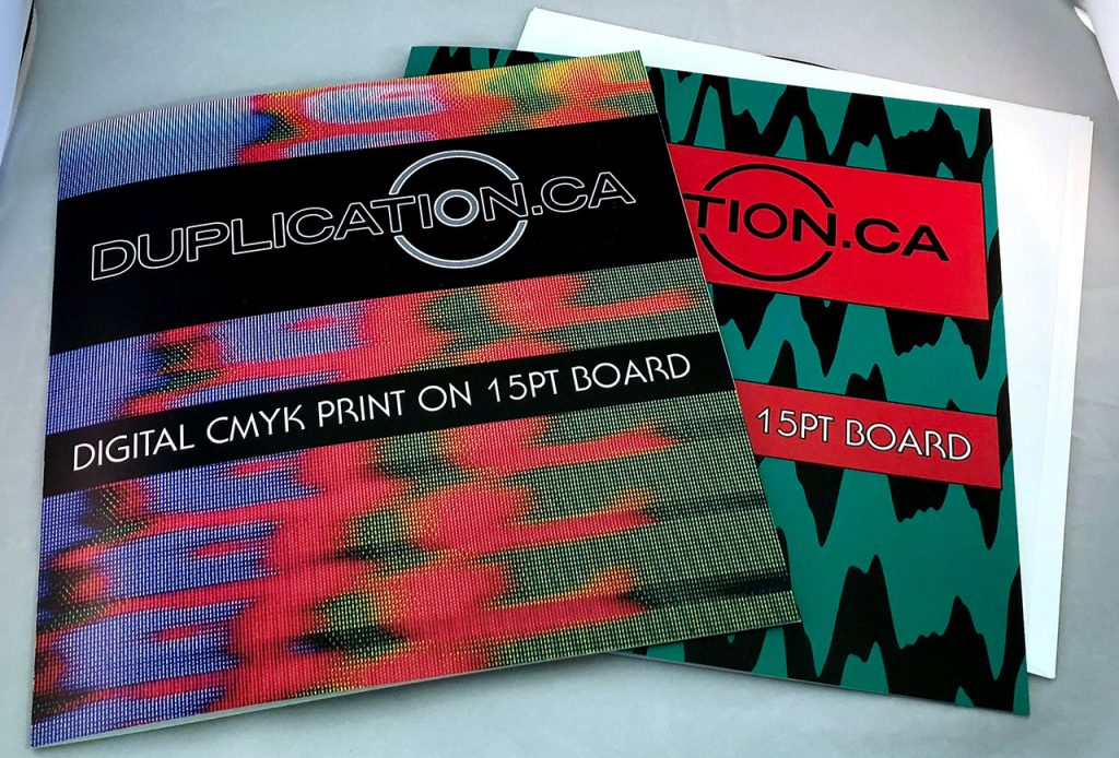 """Foldover printed 12"""" jackets on digital and offset at Duplication.ca"""