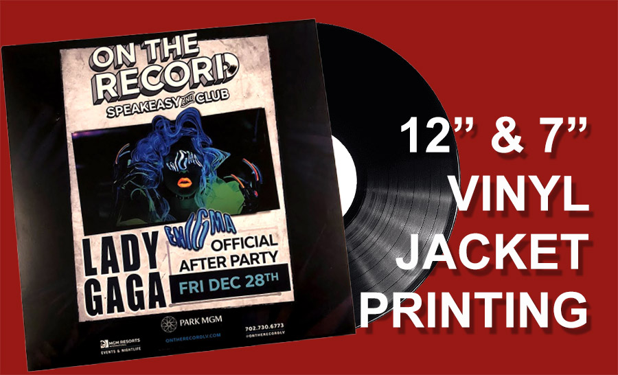 Vinyl record jacket printing from Duplication.ca