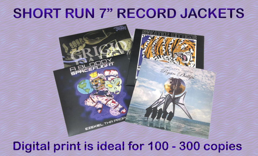 "7"" record jacket and cover printing from Duplication.ca"
