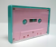 Turquoise Norelco cassette box with pink cassette