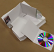 Finished CD digipak and eco-wallet case examples with white board flats