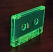 Flo green cassette under regular room light