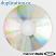 Falcon CD-R 52X Diamond White Inkjet Hub Printable (bottom of disc)