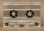 Chrome audio cassette, transparent liners, tab in