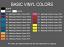 Basic Colors for vinyl pressing