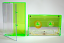 Norelco cassette case fluorescent green from Duplication.ca