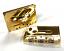 C-67 gold 24k audio cassette bling