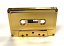Shiny gold audio cassette from duplication.ca