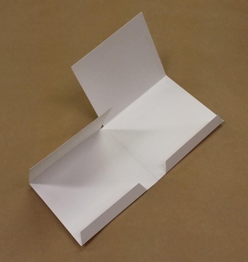 diy cd case white flats for 4 panel wallets or digipaks