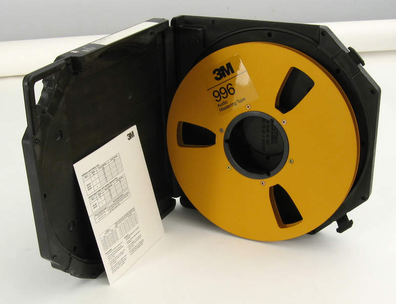 3m 996 Gold Metal Reel With Library Case For Half Inch
