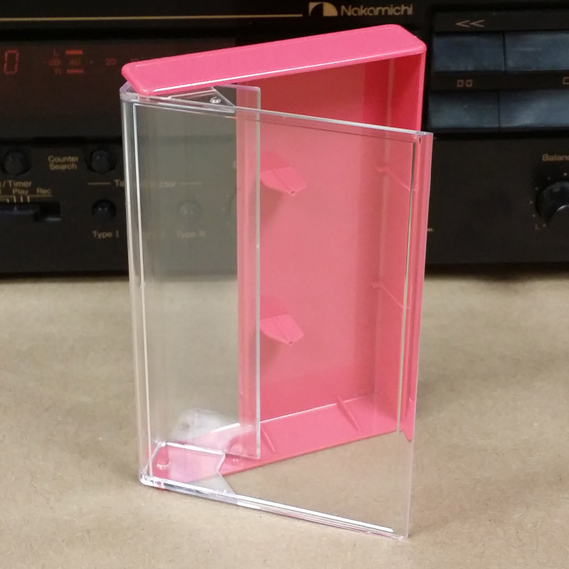 Clear Rose Norelco Case For Audio Cassettes Cassette
