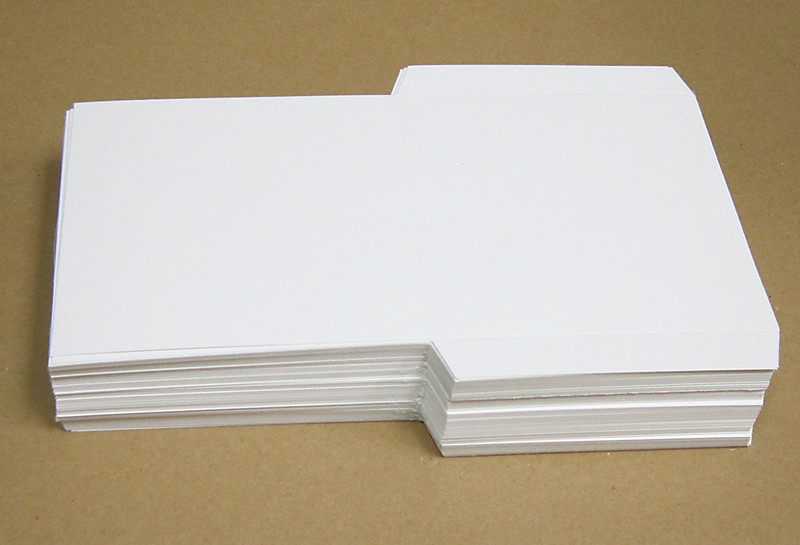 Flat white cardboard sleeves for cd dvd cd dvd for Cd sleeve printing template