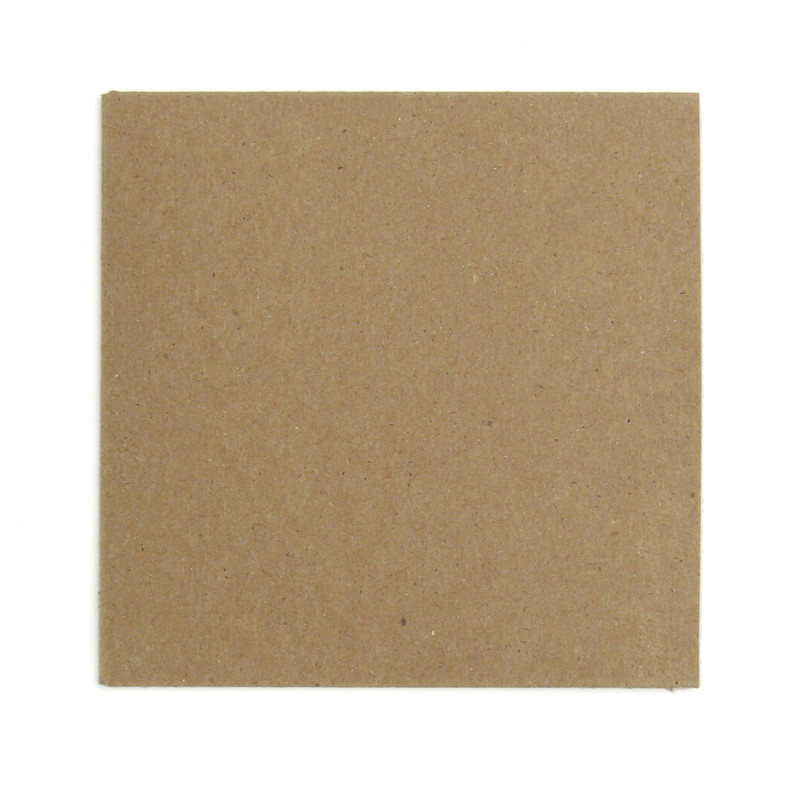 Recycled chipboard cardboard sleeve for CD
