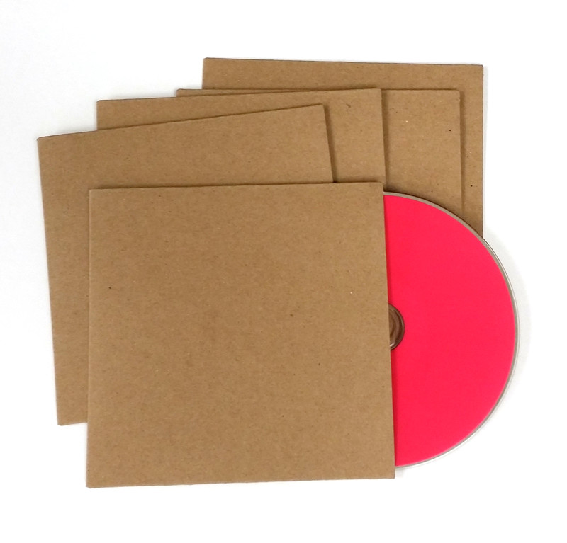 Recycled Cardboard Sleeve For Cd 500 Pieces With Free