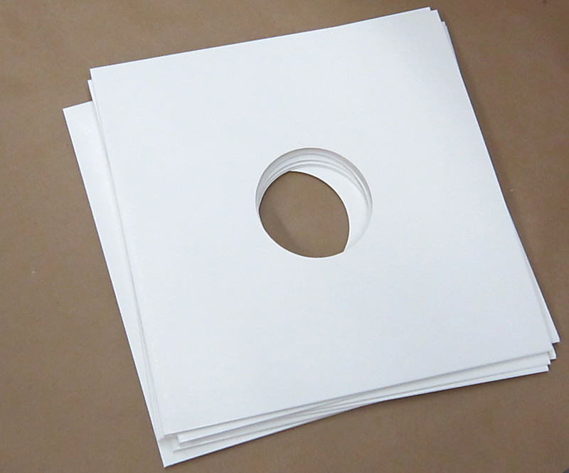Blank White Jacket For Vinyl 12 Quot Records With Hole 40