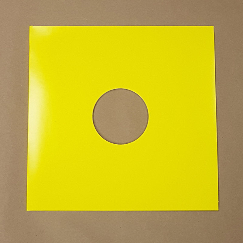 Blank Yellow Jacket For Vinyl 12 Quot Records With Hole 10pk